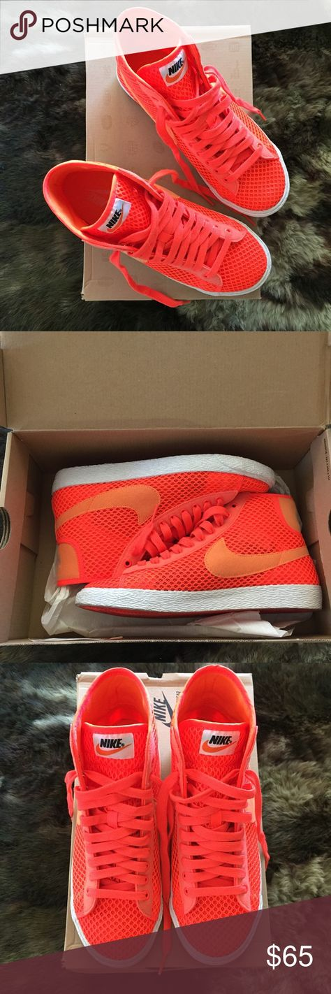 wholesale online discount sale best Nike Blazer Mid Mesh Fluorescent Orange Nike Blazer High ...