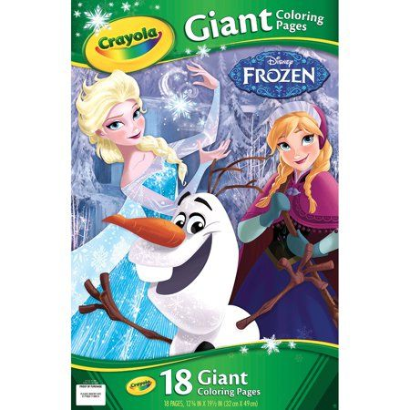 Crayola Giant Coloring Pages Featuring Disney S Frozen 18 Pages Walmart Com Frozen Coloring Pages Frozen Coloring Princess Coloring Pages