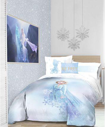 Disney Frozen 2 Elsa Color Block 8pc Full Bed In A Bag Reviews Bed In A Bag Bed Bath Macy S Frozen Bedroom Frozen Girls Bedroom Frozen Girls Room