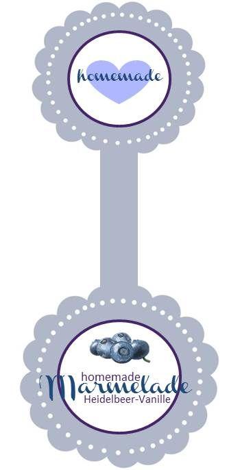 Heidelbeer-Vanillie-Marmelade-Etikett. Printable von Decorize