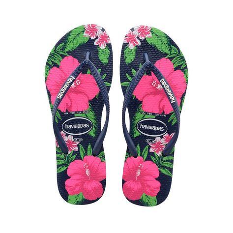 Chinelo Feminino Havaianas Slim Estampado de Gatos Verde