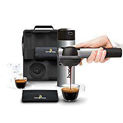 Silver Handpresso HPOUTDOORCMPLT-GRY Pump Espresso Machine Outdoor Set