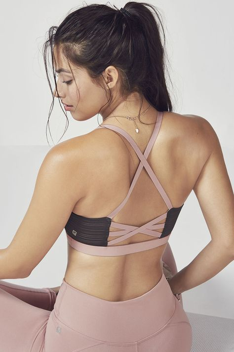 This top-selling bra now features a fresh mesh overlay for that extra cool factor you (and your ladies) will love. Enjoy the same crisscross straps in back that hold you in with style.