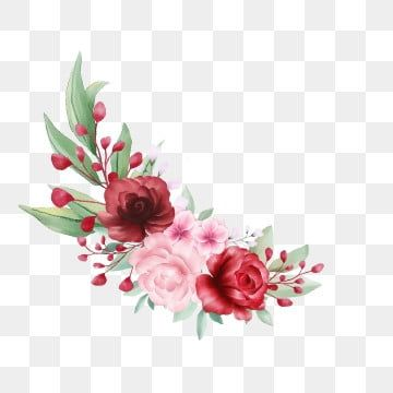 Beautiful Flowers Bouquet For Wedding Or Greeting Cards Composition Watercolor Flower Botanical Png Transparent Clipart Image And Psd File For Free Download Watercolor Flowers Flower Illustration Flower Clipart