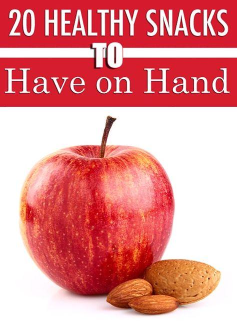20 Healthy Snacks to Have on Hand. #healthysnacks #lowcaloriesnacks