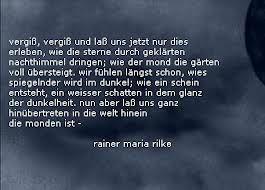 Rilke gedicht wenn du denkst es geht nicht mehr