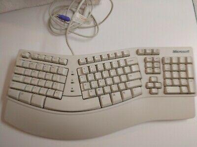 Microsoft Ergonomic Keyboard Natural Computer Ps2 E06401ps2 In 2020 Computer Computer Keyboard Keyboards