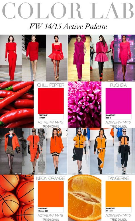 Trend Council F/W 14/15 colour #color #fashion #style #clothing #trends