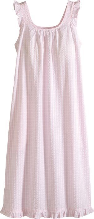Women S Seersucker Robe With Images Night Gown