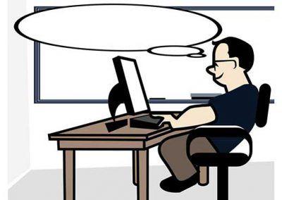 Teacher With Desktop Computer 3 Variations Desktop Computers Instructional Technology Desktop