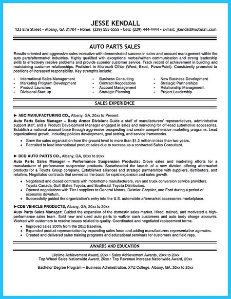 Automotive Parts Manager Sample Resume Stylish Design Of A 13 Ahoy