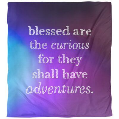 East Urban Home Curiosity Inspirational Quote Single Duvet Cover Polyester In Blue Purple Size King Duvet Cover W In 2021 Inspirational Quotes Single Quotes Quotes