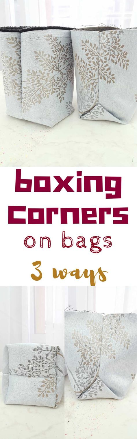 bag SEWING BOX CORNERS ON BAGS -...