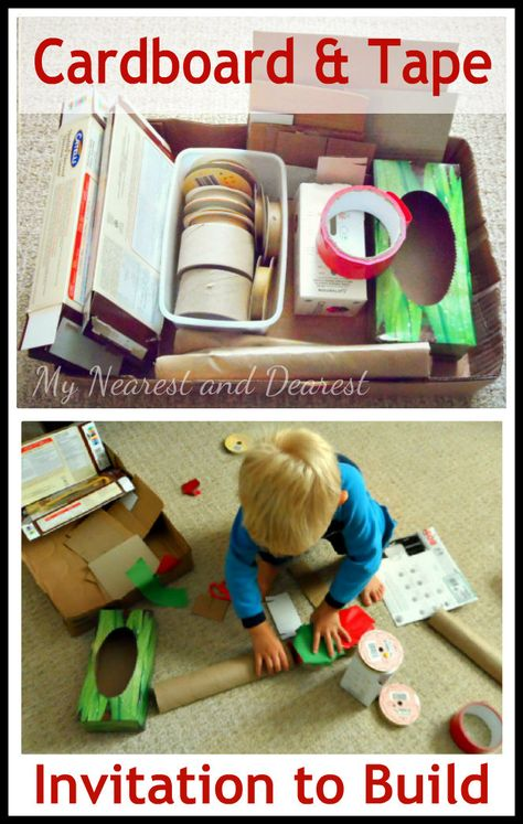 Invitation to build with cardboard and tape