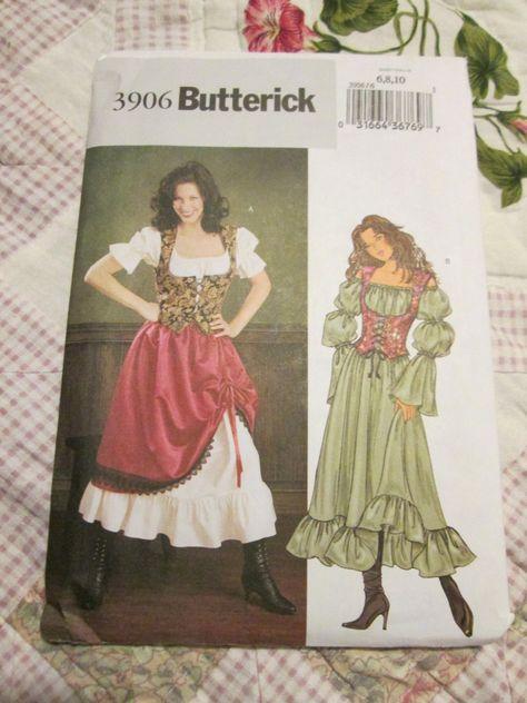 Simplicity 3809 Costume Renaissance Layered Dress 2 Looks SEWING PATTERN 16-20