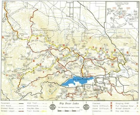 Map Of California Big Bear Big Bear Ca Trail Report Off Road 468 X