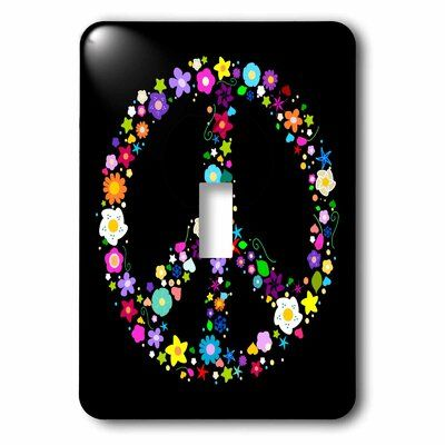 3drose Floral Peace Symbol 1 Gang Toggle Light Switch Wall Plate Wayfair Ca Toggle Light Switch Plates On Wall Black Light Switch