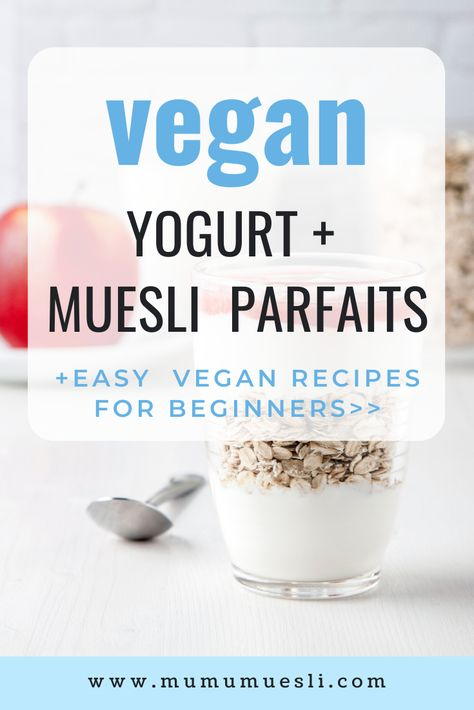 One of the most simple ways to eat muesli is by layering fruit with #muesli and yogurt in a jar. (You can make vegan yogurt from almond milk!) These parfaits are great healthy make-ahead breakfast recipes! And they're full of healthy fats, fiber, and vegan protein. Enjoy! #mumumuesli #eatclean #veganrecipes #healthybreakfastideas (Clean Eating Snack Ideas | How to Prepare Muesli | How to Eat Muesli | Vegan Breakfast Ideas | Best Food Blogs | High Fiber Breakfast Foods | Top Food Blogs)