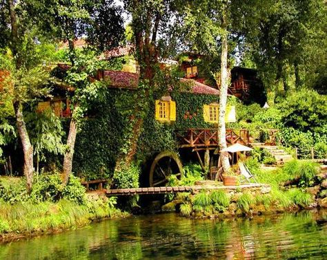 Old Mill House on the Isle of Wight, England, UK
