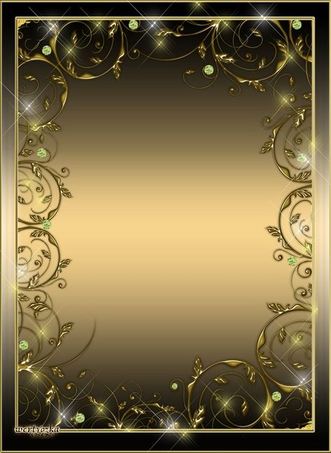 Stylish gold frame psd for a photo - Shining gold patterns
