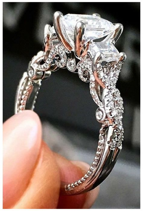 Wedding Rings Solitaire, Morganite Engagement, Rose Gold Engagement Ring, Vintage Engagement Rings, Vintage Rings, Wedding Engagement, Engagement Rings For Women, Princess Wedding Rings, Most Popular Engagement Rings