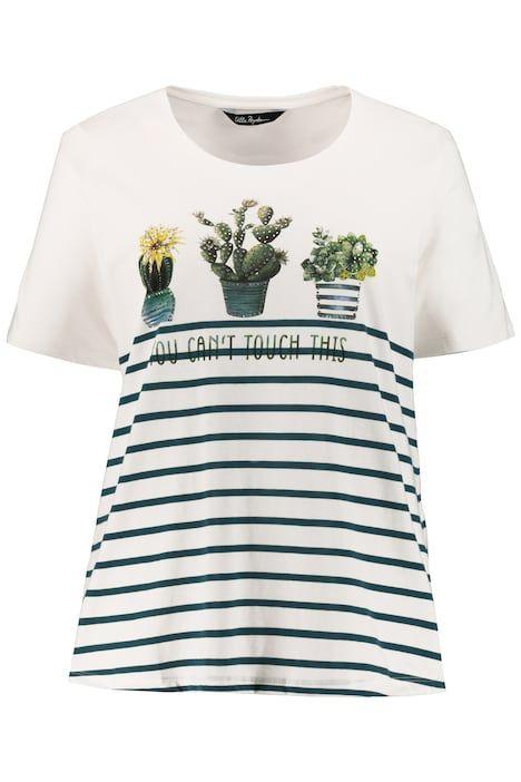 T Shirt Damen Weiss Baumwolle Ulla Popken In 2020 Shirts Ulla Popken T Shirt