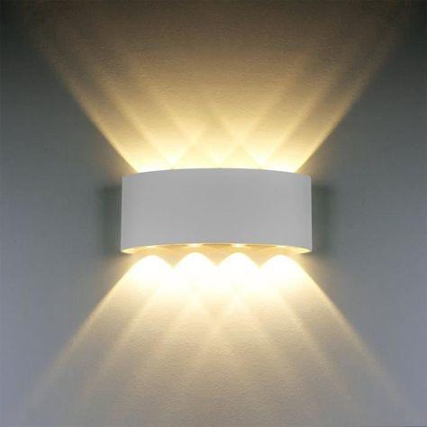 4er Set LED Wand Strahler Wohn Zimmer ALU Lampen Treppenhaus ALU Big Light