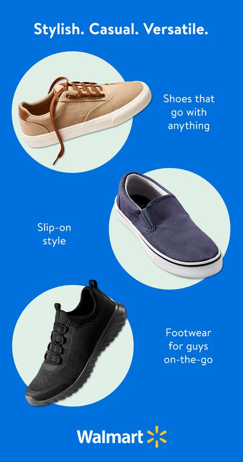 Find your new fave pair of shoes at Walmart. We've got the coolest casual looks in men's footwear. Shop online or in-store for everyday low prices.