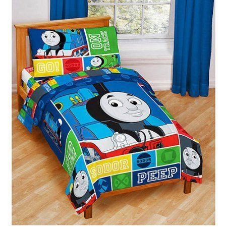 Thomas And Friends 4 Piece Toddler Bed Set Toddler Train Bedding