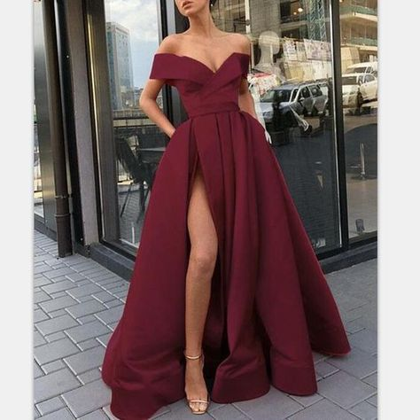 Elegante Mode Chea Red Long Women Abendkleider Abendkleider mit Split