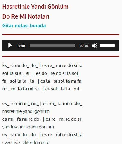 Hasretinle Yandi Gonlum Do Re Mi Notalari Dinle Cal Muzik Notalari Notalara Dokulmus Muzik Flut