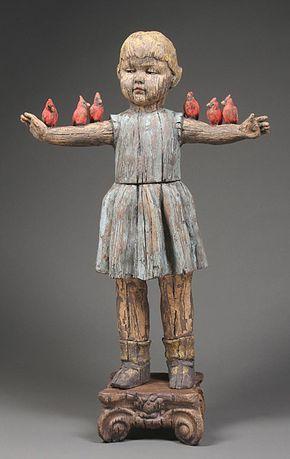 Margaret Keelan I Do Like Her Sculptures Art Reminds Me Of Santos Dolls Which I Love Sculpture Figurative Sculpture Ceramic Sculpture