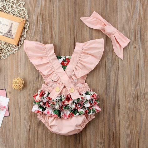 Baby Dress Patterns, Baby Clothes Patterns, Cute Baby Clothes, Hippie Baby Clothes, Handmade Baby Clothes, Baby Girl Romper, Baby Girl Dresses, Baby Girl Newborn, Baby Girls