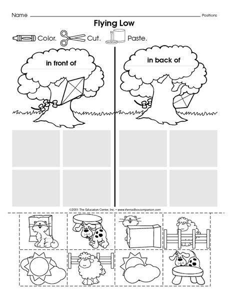 Pin On Printable Worksheet For Kindergarten Positional words kindergarten worksheets
