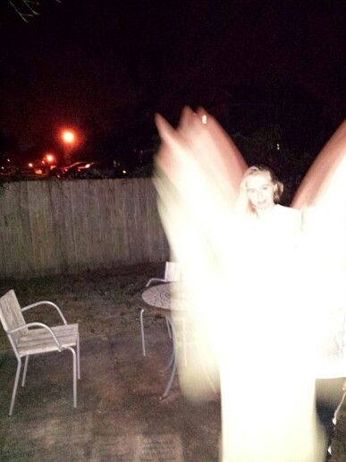 Real Angel in my backyard.  Not photo shopped.
