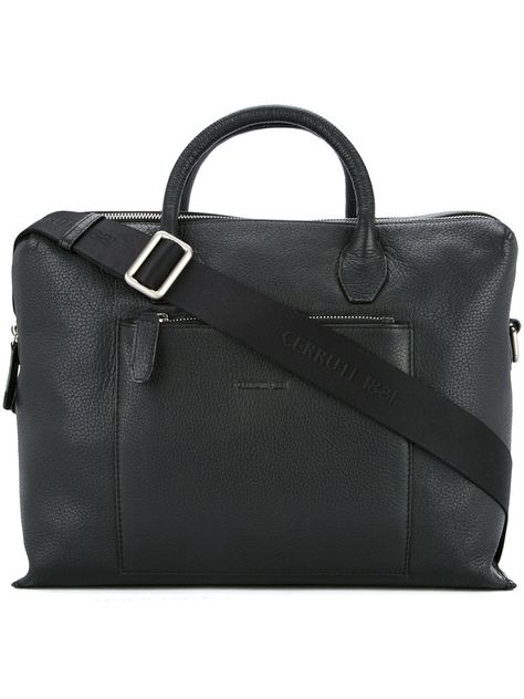 52bb06b58d CERRUTI DOUBLE ZIP LAPTOP BAG. #cerruti #bags #leather # | Cerruti ...