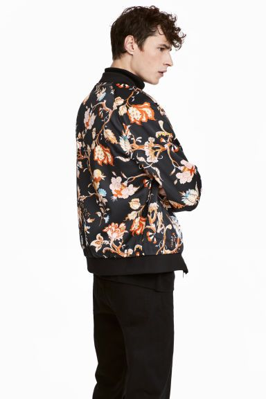 bomber jacket floral mens