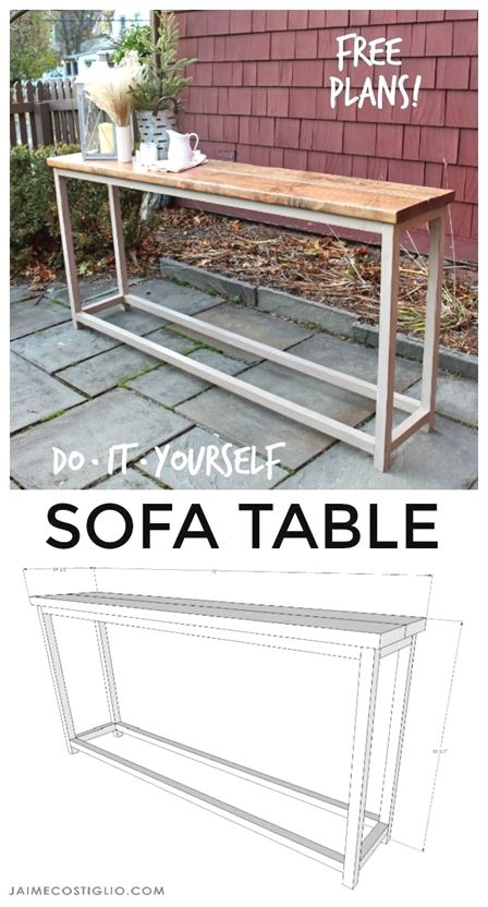 Simple Sofa Table Free Plans Diy Sofa Table Simple Sofa Table