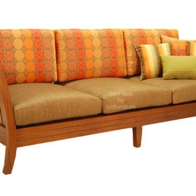 Stylish Teak Wood 3 Seater Sofa For The Living Room By Bic In 2020 Cushions On Sofa Wooden Sofa Set Sofa