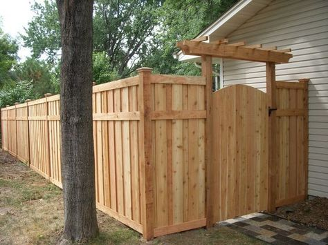 Inspirational Brown Privacy Fence