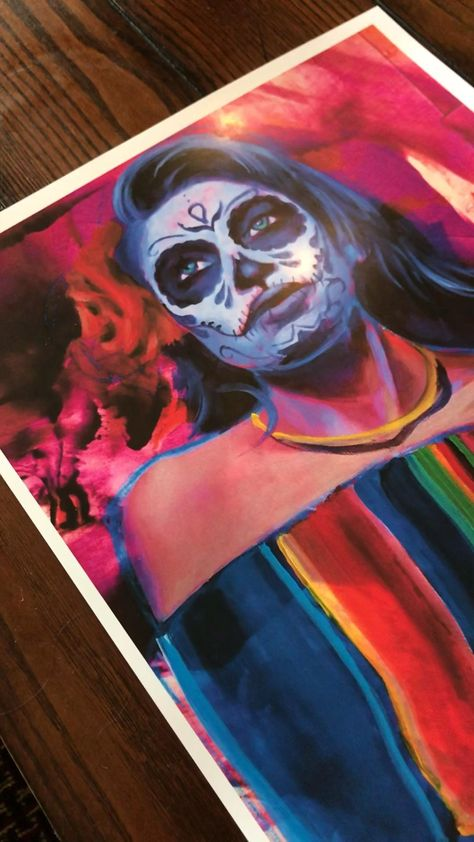 Day of the dead art poster | wall decor