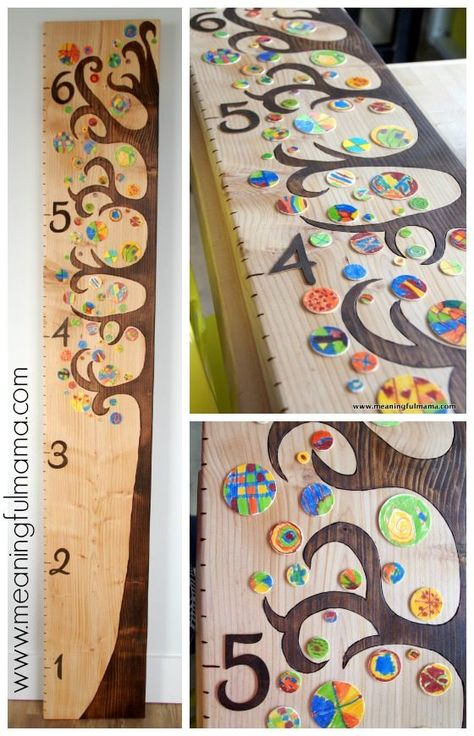 This DIY wooden tree growth chart was my solution to our classroom auction project last year. I'm excited to be able to share the tutorial