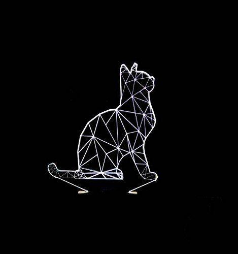 Led 3d Katzenlampe Www Homelisty Com Geometrische Tekening Patronen Katten