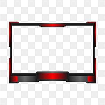 Red Twitch Live Streaming Overlay For Gamers Live Streaming Overlay Png And Vector With Transparent Background For Free Download Overlays Transparent Frame Template Youtube Banner Design