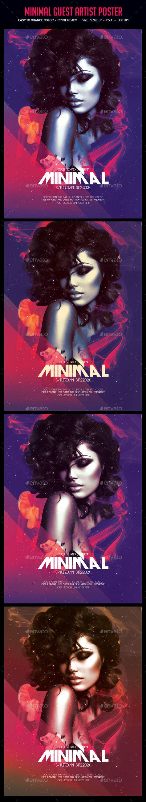 Minimal Guest Artist Poster