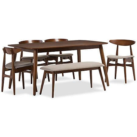 Flora 6 Piece Dining Set For The Kitchen Dining Room Furniture