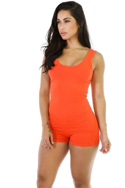 0628d9f2fe96 jocelyn katrina brand Women s Playsuits Summer Fashion Sexy Bodycon Short  Rompers Casual Solid Color Slim Jumpsuit