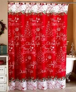 Chalkboard Look Holiday Bath Collection Shower Curtain Hang The
