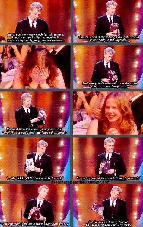 Peter Capaldi embarrassing his daughter