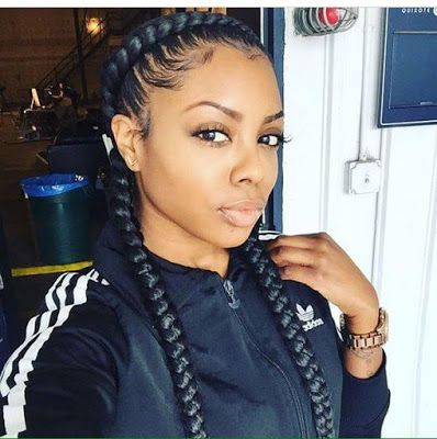 Two And Four Cornrows Hairstyles 2018 For Black Hair In 2020 Braids Hairstyles Pictures Braids With Weave Two Braid Hairstyles
